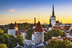Tallinn, Estonia. Old city view Stock Photos