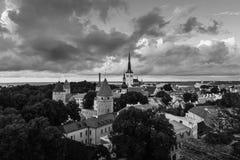 Aerial view of Tallinn, Estonia Royalty Free Stock Image