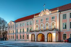 Tallinn, Estonia. Building Of Government Of Republic Of Estonia. Royalty Free Stock Photography