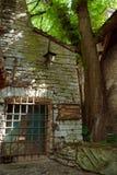 TALLINN, ESTONIA - Courtyard of Dominican Monastery Claustrum, The Old Town of Tallinn stock images