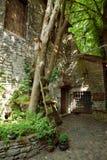 TALLINN, ESTONIA - Courtyard of Dominican Monastery Claustrum, The Old Town of Tallinn royalty free stock photo