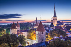 Tallinn, Estonia at dawn. Stock Images