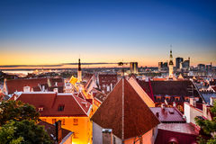 Tallinn, Estonia at Dawn Stock Image