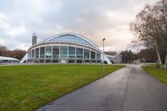 Amphitheater, music stadium Lauluvaljak on the Song Field in Tallinn. TALLINN, ESTONIA- December 30, 2013: Amphitheater, music stadium Lauluvaljak on the Song Stock Images