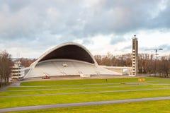 Amphitheater, music stadium Lauluvaljak on the Song Field in Tallinn. TALLINN, ESTONIA- December 30, 2013: Amphitheater, music stadium Lauluvaljak on the Song Stock Photos