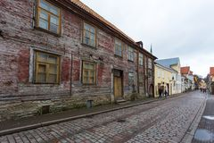 Historical buildings of the Downtown in Tallinn. Stock Image