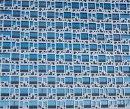 Geometrical Exterior Textures - Blue Abstract stock image