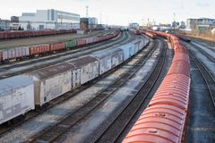 Railroad Transport Hub - Tallinn, Estonia royalty free stock images