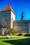 Tallinn, Estonia: the defensive city wall Royalty Free Stock Image