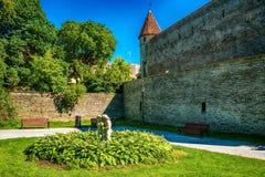 Tallinn, Estonia: the defensive city wall Royalty Free Stock Photography