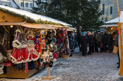 Tallinn , Estonia. It is Estonia oldest Christmas Market with a very long history dating back to 1441. Stock Images