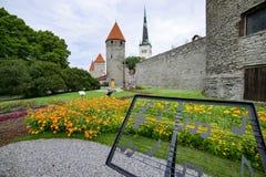 Tallinn, estonia, europe, along the old walls Royalty Free Stock Image