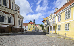 Tallinn estonia, europe, castle square Royalty Free Stock Photos