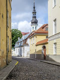 Tallinn, estonia, europe, a glimpse of the historic center of the lower town Stock Images