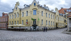 Tallinn, estonia, europe, a glimpse of the historic center of the lower town Royalty Free Stock Photography