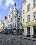 Tallinn, estonia, europe, a glimpse of the historic center of the lower town Stock Photo