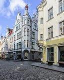 Tallinn, estonia, europe, a glimpse of the historic center of the lower town Stock Photo