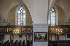 Tallinn, estonia, europe, inside the church of the holy spirit Royalty Free Stock Photography
