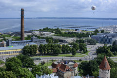 Tallinn, estonia, europe, overview from the church tower of st. olav Royalty Free Stock Photography