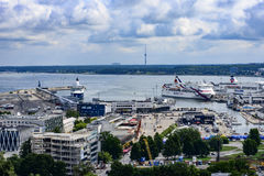 Tallinn, estonia, europe, overview from the church tower of st. olav Royalty Free Stock Photo