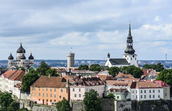 Tallinn, estonia, europe, overview from the church tower of st. olav Stock Photo