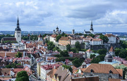 Tallinn, estonia, europe, overview from the church tower of st. olav Royalty Free Stock Image