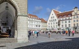 Tallinn, estonia, europe, town hall square Stock Photos