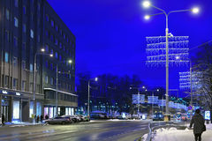 Tallinn, Estonia in evening Stock Photos