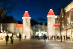 Tallinn, Estonia Fondo borroso extracto de Boke Bokeh de la tierra Fotografía de archivo