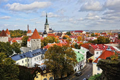 Tallinn, Estonia. The heart of the old town. The view from the top Royalty Free Stock Images