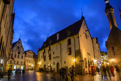 Tallinn, Estonia - January 3, 2015: Christmas market on the central square of Tallinn Royalty Free Stock Image