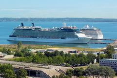 Cruise ship in port of Tallinn, Estonia Stock Image