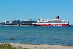 Ferry in port of Tallinn, Estonia Royalty Free Stock Photography