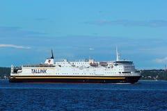 Ferry in port of Tallinn, Estonia Stock Photo