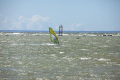 Tallinn, Estonia- JULY 10: Wind Surfing in Baltic Sea. Tallinn, Royalty Free Stock Image