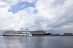 Tallinn, Estonia- JULY 10: Zuiderdam and Silver Sea cruise ships Stock Image