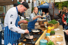 TALLINN, ESTONIA - JUNE 18, 2016: Street food Festival. Stock Photo