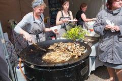 TALLINN, ESTONIA - JUNE 18, 2016: Street food Festival. Royalty Free Stock Image