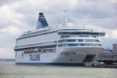 TALLINN, ESTONIA - JUNE 27, 2018: Tallink ferries Silja Europa royalty free stock photo