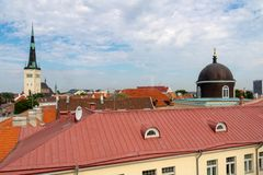 TALLINN, ESTONIA- JUNE 26, 2015: View over city stock image