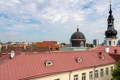 TALLINN, ESTONIA- JUNE 26, 2015: View of St.Mary Church. royalty free stock photography