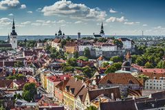 Tallinn Estonia linia horyzontu Fotografia Stock