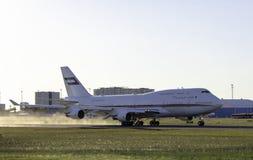 Tallinn, Estonia - MAY 31, 2018: Dubai Royal Air Wing Boeing 747 Royalty Free Stock Photography
