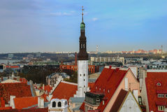 Tallinn Estonia may, 05, 2014 - Panorama. Tallinn's old town, Estonia, spring Stock Image