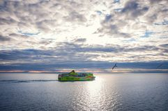 Tallinn, Estonia May 17, 2016: Tallink Shuttle cruise liner. The companies in the Baltic Sea region royalty free stock photos