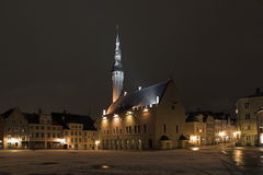Tallinn. Estonia. Night on Tow Stock Images