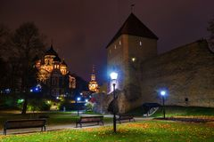 Tallinn, Estonia (night view) Royalty Free Stock Images