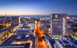 Tallinn, Estonia Nowy miasto fotografia royalty free