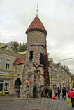 Tallinn, Estonia od Viru Bramy wejście Fotografia Stock