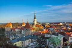 Tallinn, Estonia old city landscape Royalty Free Stock Image